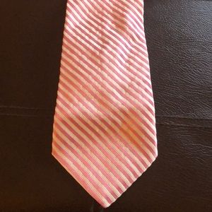 Pink and White Stripped tie